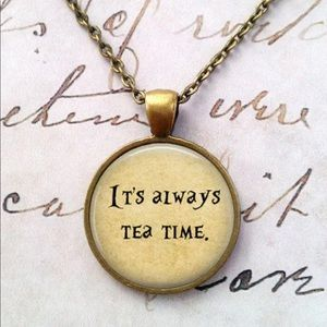 Jewelry - Alice in Wonderland Brass and Glass Necklace